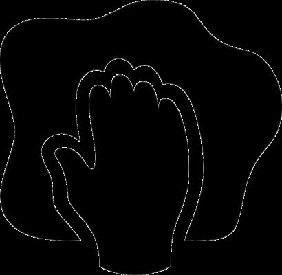 icone chiffon main