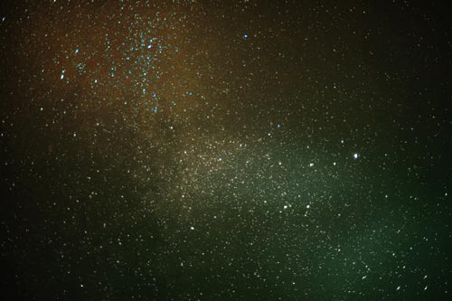 Ciel étoilé qui illustre la collection Poussières d'étoiles