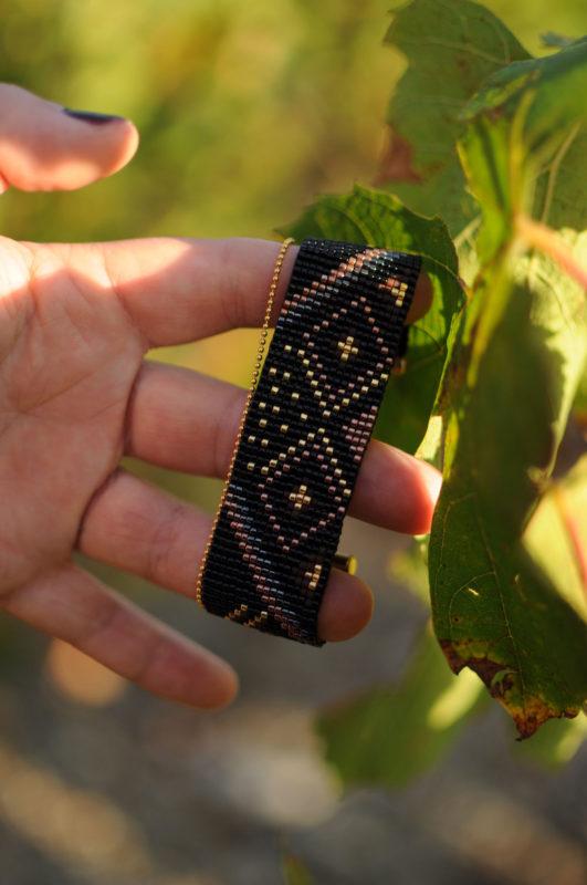Photo du bracelet tissé Poussières d'étoiles