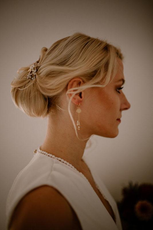 bijoux mariage doré blanc discret élégant