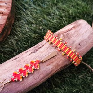 ensemble bracelet collier heliconia