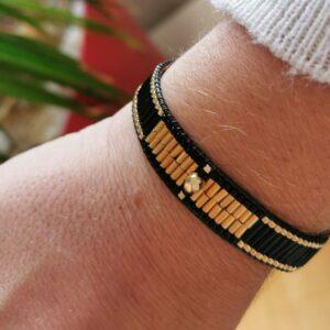 bracelet doré noir orion