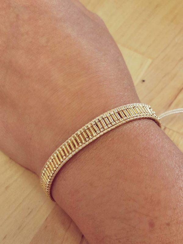 bracelet porté doré coulissant