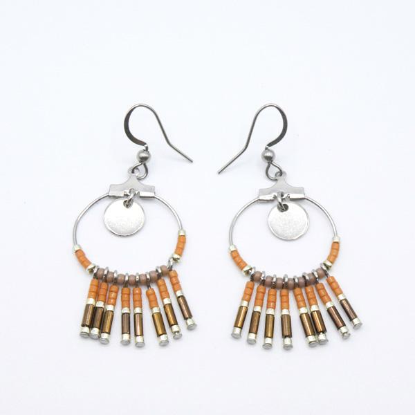 boucles d'oreilles perles ethnique