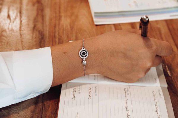 bracelet rond tissé