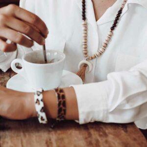 bracelet tissé motif animal