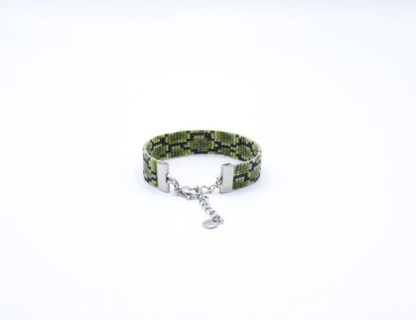 bracelet-souple-serpent-kijani tissé