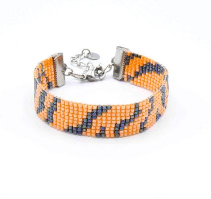 bracelet-souple-tigre-tissé