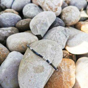 bracelet perles homme code morse