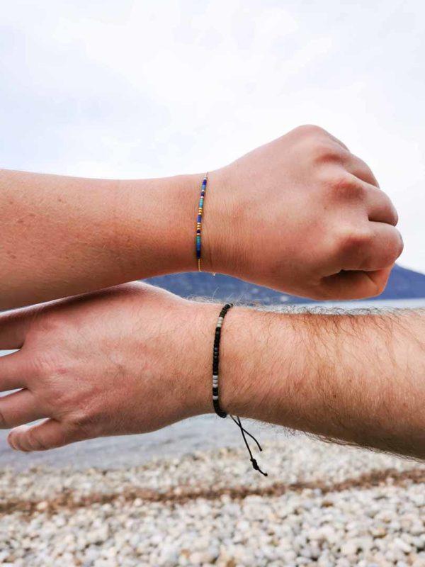 bracelets message codé portés