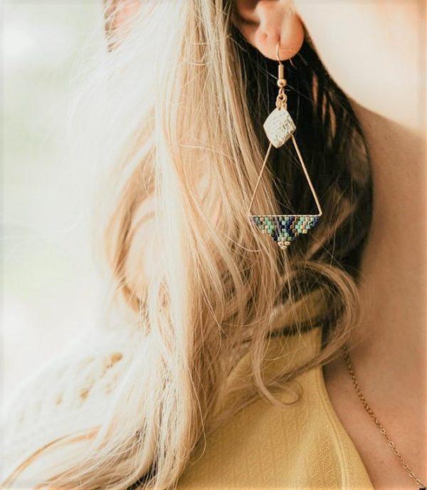 boucles d'oreilles ptah dorée