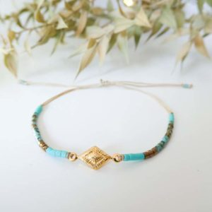 bracelet losange perles