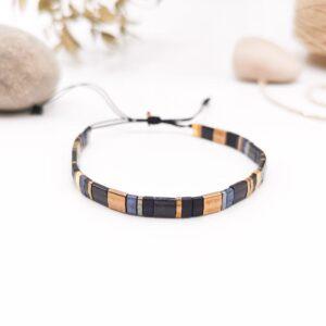 bracelet tila noir et doré