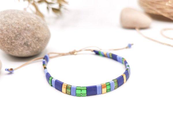 bracelet perles carré