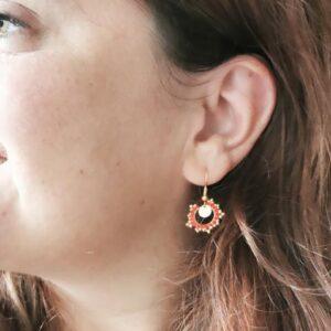 boucles d'oreilles discretes perles